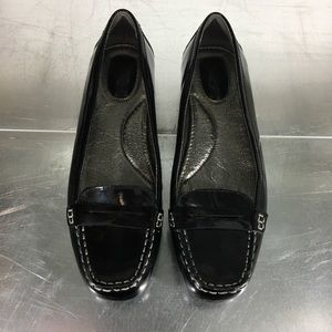 SPERRY Penny Loafer Shiny Black Leather Flats